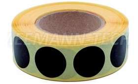 Rouleau de 1 000 Gommettes NOIRES rondes diamètre 20 mm