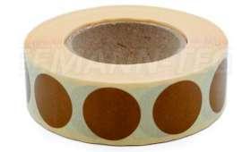 Rouleau de 1 000 Gommettes TAN rondes diamètre 20 mm
