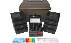 Kit complet MTM - Valise + 10 boites de 100 Cartouches CAL 9MM