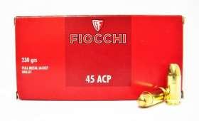 Boite de 50 Cartouches FIOCCHI 45 ACP FMJ 230 gr