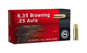 Boite de 50 cartouches Geco 6.35 Browning - 25 ACP