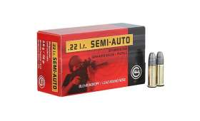 Boite de 50 munitions Geco Semi-Auto 40 grains, calibre .22 LR