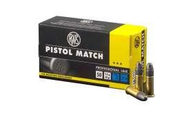 Boite de 50 munitions RWS Pistol Match Professional Line .22 LR