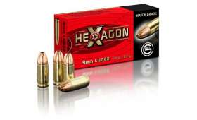 Boite de 50 cartouches Geco 9mm Luger - 124 gr Hexagon