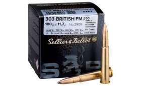 Boite de 50 cartouches Sellier Bellot 303 BRITISH 180gr FMJ
