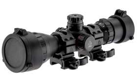 Lunette de tir Mildot illuminée 3-9 x 32 mm - Rouge/verte