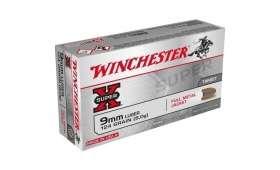 Boite de 50 cartouches Winchester 9 x 19 FMJ 124 gr
