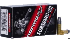 Boite de 50 cartouches NORMA USA SUBSONIC .22LR 40gr