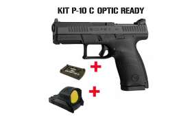 PACK Pistolet CZ P-10 C OR calibre 9x19 + Point rouge MEOPTA MEORED 30