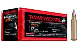 Boite de 50 cartouches Winchester Varmint HV Cal 17 HMR 17gr