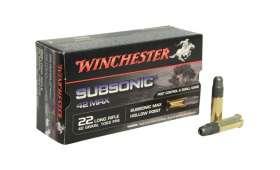Boite de 50 cartouches Winchester SUBSONIC MAX HP 42gr