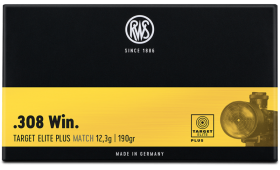 Boite de 20 cartouches RWS TARGET ELITE PLUS Match cal.308 - 190 gr