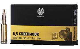 Boite de 20 cartouches RWS TARGET ELITE PLUS Match cal.6.5 creedmoor - 130 gr