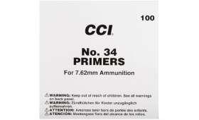 boite de 100 amorces CCI 34 LR Militaire pour calibre 7,62 - 308