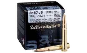 Boite de 50 cartouches Sellier Bellot 8x57 JS 196gr - FMJ