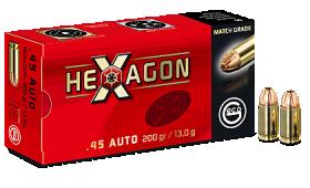 Boite de 200 ogives GECO HEXAGON 45 ACP 200gr