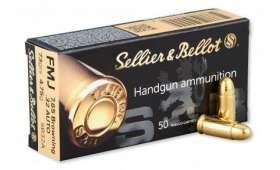 Boîte de 50 cartouches Sellier Bellot 32 ACP - 73 gr FMJ