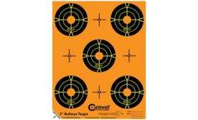 Cible 5cm Autocollante Bullseye CALDWELL Orange Peel x10