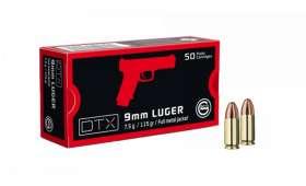 Boite de 50 cartouches Geco 9mm LUGER - 115 gr FMJ DTX
