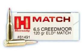 Boite de 20 Cartouches HORNADY ELD MATCH 6.5 Creedmoor - 120 gr - 81491