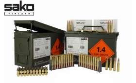 Caisse métal M2A1 de 400 cartouches militaire SAKO Cal .308win/7.62x51 - 168 gr