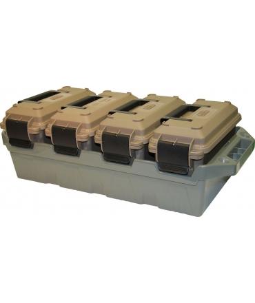 KIT 4 boites de munitions sur Ammo Crate MTM AC4C